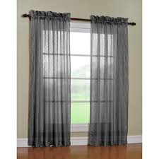 Grey Sheer Curtains Attern Geometric Color Options Charcoal Curtain Style Window