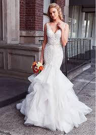 mermaid wedding dress buy discount junoesque tulle v neck neckline waistline