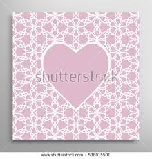 heart frame openwork filigree template wedding stock vector