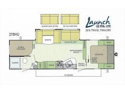 two bedroom rv floor plans 2017 starcraft launch ultra lite 27bhu two bedroom u dinette sofa