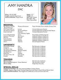 theatre resume sle talent resume resume exles for actors 12 actor resume