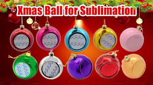 2017 sublimation blank christmas ornaments printable round glass