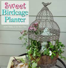 holidays at the harris home sweet birdcage planter