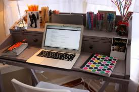 How To Organize A Small Desk by Organize Desk Work Reclaimed Wood Office Desk Loccie Better
