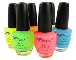 amazon com 6 pack of glow in the dark nail polish u0026 bewild brand