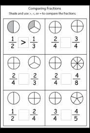 fraction printable worksheets comparing fractions 4 worksheets free printable worksheets