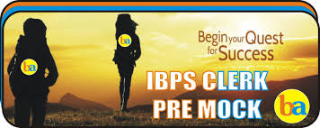 ibps clerk prelims 2015 practice mock test solution