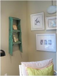 Leaning Ladder Bookcase by Old Wooden Ladder Shelf Vintage Whites Rustic Ladder Leaning