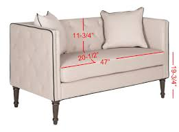 What Is A Chesterfield Sofa by Fox6206e Loveseats Settees Furniture By Safavieh