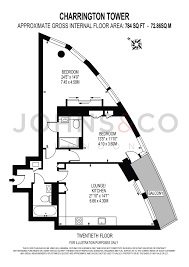Tower Of London Floor Plan 2 Bed Flat For Sale In Charrington Tower 11 Biscayne Avenue