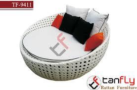 White Rattan Sofa Round White Wicker Garden Rattan Sofa Bed Outdoor Furniture Patio