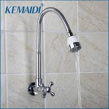 Cheap Kitchen Sink Faucets Online Get Cheap Wall Mount Kitchen Sink Faucet Aliexpress Com