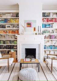 Fireplaces With Bookshelves by Best 10 Library Fireplace Ideas On Pinterest Grey Bookshelves