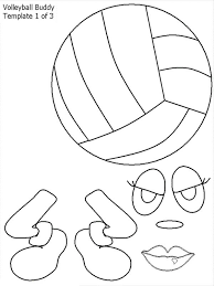 volleyball buddy coloring download u0026 print coloring