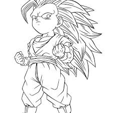 goku super saiyan 3 coloring pages dragon ball z goku super saiyan