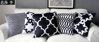 black patterned cushions modern striped cushion cover patterned cushion black white