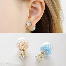 studded earrings buy soo n soo rhinestone and bead stud earrings yesstyle