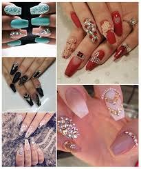 imagenes de uñas acrilicas con pedreria diseños de uñas fáciles acrílicas postizas con piedras y más