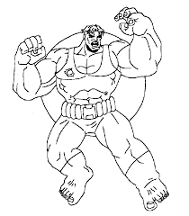 cartoon printable marvel coloring pages hulk coloring tone