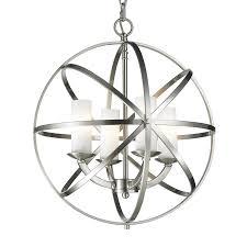 Cage Chandelier Lighting Shop Z Lite Aranya 18 31 In 4 Light Brushed Nickel Cage Chandelier