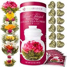 flowers gift teabloom heart shaped flowering tea 12 assorted