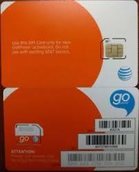 ready prepaid card new at t sim card 3g 4g prepaid go phone 3g ready to activate sku