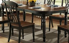 Black Leather Chairs And Dining Table Black And Brown Dining Room Sets New Decoration Ideas Solid Wood