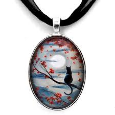 black cat pendant necklace images Black cat jewelry zenbreeze art gallery jpg
