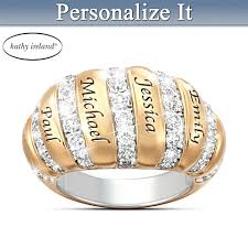mothers ring with names personalized mothers rings