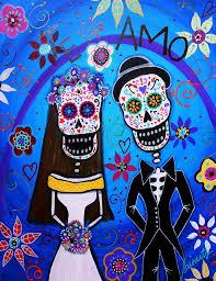 day of the dead wedding wedding day of the dead dia de los muertos anniversary gift
