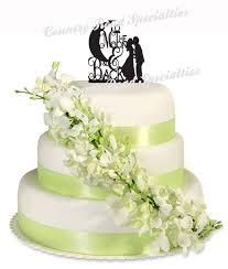 christian wedding cake toppers silhouette to the moon back groom acrylic wedding