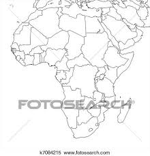 africa map drawing stock illustration of blank africa map k7084215 search clipart