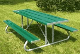 Commercial Picnic Tables And Benches Commercial Aluminum Picnic Table At Builtrite Bleachers
