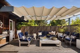Outdoor Sitting Area Sliding Shade Over Outdoor Seating Area U2013 Pj Canvas