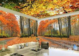 wallpaper for entire wall 3d autumn forest park entire living room wallpaper wall mural art