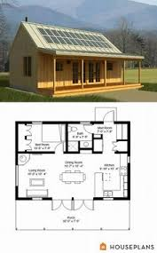 1 Bedroom Cabin Floor Plans Tiny House Plan 59163 Total Living Area 600 Sq Ft 1 Bedroom