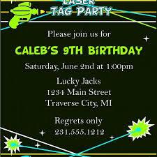 laser tag birthday invitations laser tag party invitation on luulla