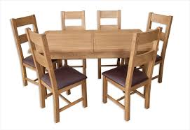 table and 6 chair set hton country rustic oak 1 6 extending dining table 6 chair set