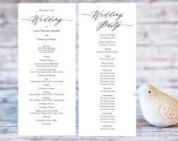 wedding ceremony program diy wedding programs wedding templates and printables