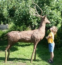 sculpture stag size deer garden statue of found