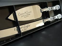 personalized wedding serving set personalized wedding cake knife and server set with