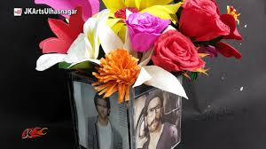 Best Out Of Waste Flower Vase Photo Frame Flower Vase Out Of Dvd Cd Cases How To Make Best Out