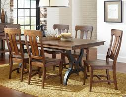 intercon the district 5 piece table u0026 chair set with leaf