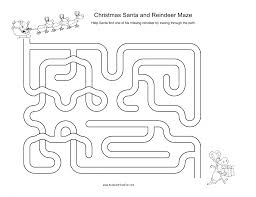 christmas mazes for kids santa reindeer xmas tree angel