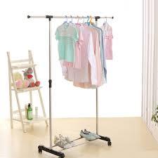 hanging picture height ikayaa metal height adjustable coat clothes garment hanging rack