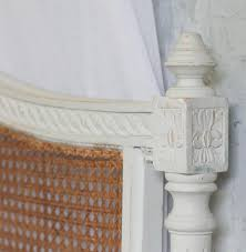 french headboard queen louis xvi french country oyster natural cane queen headboard
