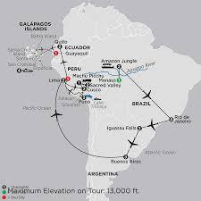 Galapagos Map Tours To The Amazon U0026 Galápagos Islands Cosmos Tours