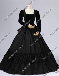 Civil War Halloween Costume Quality Civil War Dress Victorian Black Velvet 2pc Gown