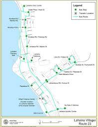 Bus Route Map Maui Bus System Maplets