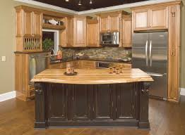 light maple kitchen cabinets hickory kitchen cabinets with black island kitchen